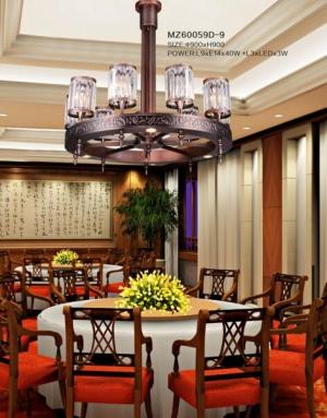 新中式灯具还利于表现材质的色彩美